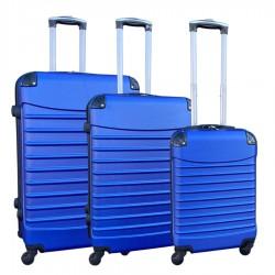 Travelerz kofferset 3 delig met wielen en cijferslot - ABS - blauwe (228)