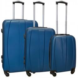 Travelerz kofferset 3 delig met wielen en cijferslot - ABS - blauw (8986)