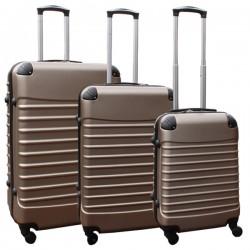 Travelerz kofferset 3 delig met wielen en cijferslot - ABS - champagne (228-)