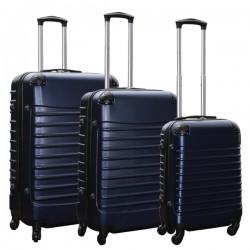 Travelerz kofferset 3 delig met wielen en cijferslot - ABS - donker blauw (228-)
