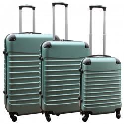 Travelerz kofferset 3 delig met wielen en cijferslot - ABS - groen (228-)