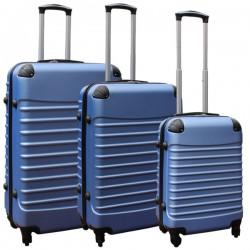 Travelerz kofferset 3 delig met wielen en cijferslot - ABS - licht blauw (228-)