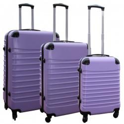 Travelerz kofferset 3 delig met wielen en cijferslot - ABS - lila (228-)