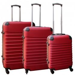 Travelerz kofferset 3 delig met wielen en cijferslot - ABS - rood (228-)