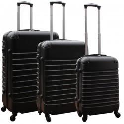 Travelerz kofferset 3 delig met wielen en cijferslot - ABS - zwart (228-)