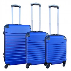 Travelerz kofferset 3 delig met wielen en cijferslot - handbagage koffers - ABS - blauw