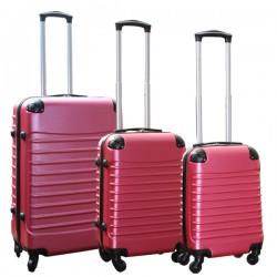 Travelerz kofferset 3 delig met wielen en cijferslot - handbagage koffers - ABS - roze