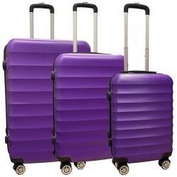 Travelerz kofferset 3 delig met wielen en cijferslot - ABS - paars (1515)