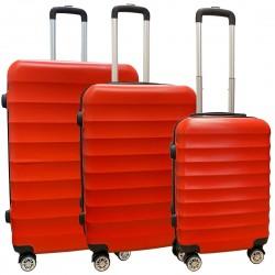 Travelerz kofferset 3 delig met wielen en cijferslot - ABS - rood (1515)