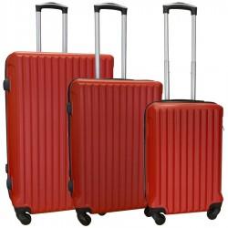 Travelerz kofferset 3 delig met wielen en cijferslot - ABS - rood (9204)