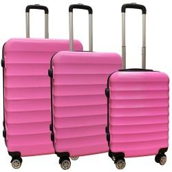 Travelerz kofferset 3 delig met wielen en cijferslot - ABS - roze (1515)