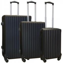 Travelerz kofferset 3 delig met wielen en cijferslot - ABS - zwart (9204)