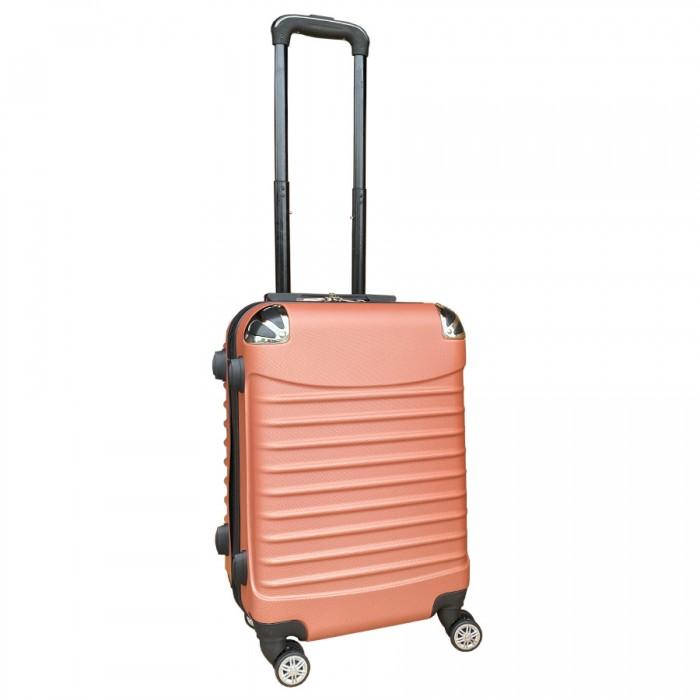 Travelerz handbagage koffer met wielen 37 liter - lichtgewicht - cijferslot - Zalmroze