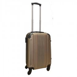 Travelerz handbagage koffer met wielen 39 liter - lichtgewicht - cijferslot - champagne (168)