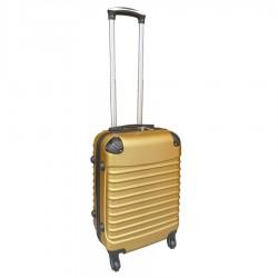 Travelerz handbagage koffer met wielen 39 liter - lichtgewicht - cijferslot - goud
