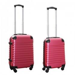 Travelerz kofferset 2 delige ABS handbagage koffers - met cijferslot - 27 en 39 liter - roze