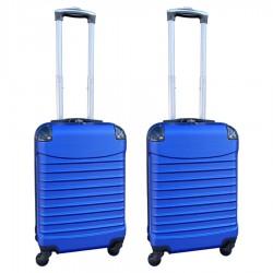 Travelerz kofferset 2 delige ABS handbagage koffers - met cijferslot - 39 liter - blauw