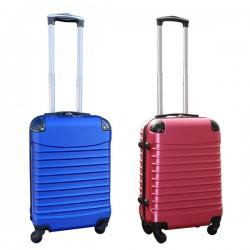Travelerz kofferset 2 delige ABS handbagage koffers - met cijferslot - 39 liter - roze - blauw