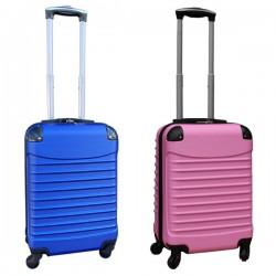 Travelerz kofferset 2 delige ABS handbagage koffers - met cijferslot - 39 liter - blauw - licht roze