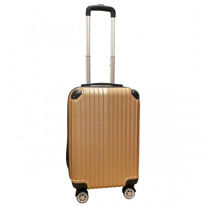 Travelerz handbagage koffer met wielen 39 liter - lichtgewicht - cijferslot - rose goud (1627)