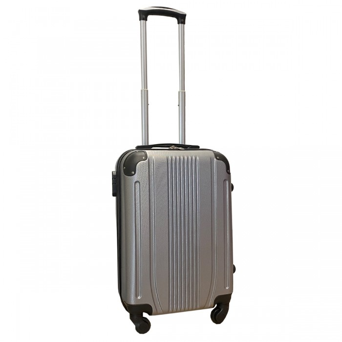 Travelerz handbagage koffer met wielen 39 liter - lichtgewicht - cijferslot - zilver (168)