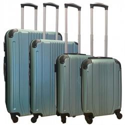 Travelerz kofferset 4 delig ABS - zwenkwielen - met cijferslot - groen - (168)