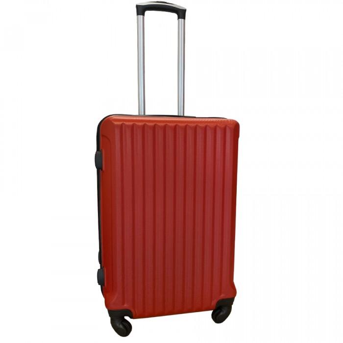 Travelerz reiskoffer met wielen 54 liter - lichtgewicht - cijferslot - rood (9204)