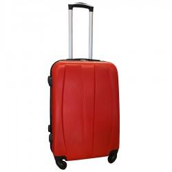 Travelerz reiskoffer met wielen 54 liter - lichtgewicht - cijferslot - rood (8986)