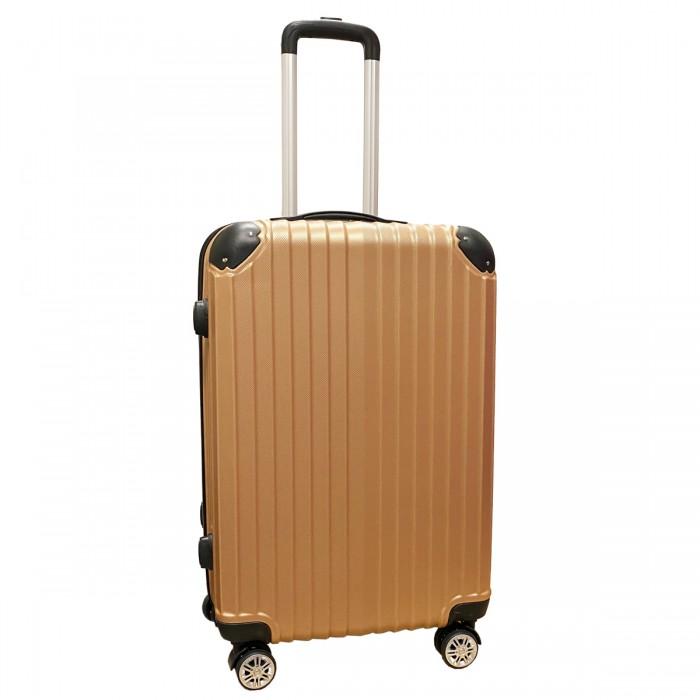 Travelerz reiskoffer met wielen 54 liter - lichtgewicht - cijferslot - rose goud (1627)