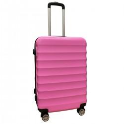 Travelerz reiskoffer met wielen 54 liter - lichtgewicht - cijferslot - roze (1515)