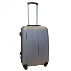 Travelerz reiskoffer met wielen 54 liter - lichtgewicht - cijferslot - zilver (8986)