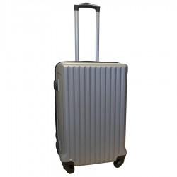 Travelerz reiskoffer met wielen 54 liter - lichtgewicht - cijferslot - zilver (9204)