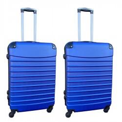 Travelerz kofferset 2 delige ABS groot - met cijferslot - 69 liter - blauw