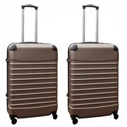 Travelerz kofferset 2 delige ABS groot - met cijferslot - 69 liter - champagne