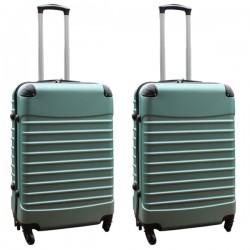 Travelerz kofferset 2 delige ABS groot - met cijferslot - 69 liter - groen