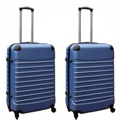 Travelerz kofferset 2 delige ABS groot - met cijferslot - 69 liter - licht blauw