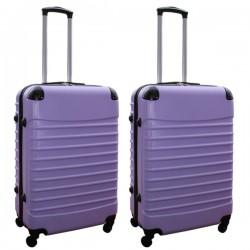 Travelerz kofferset 2 delige ABS groot - met cijferslot - 69 liter - lila