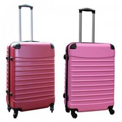 Travelerz kofferset 2 delige ABS groot - met cijferslot - 69 liter - roze - licht roze