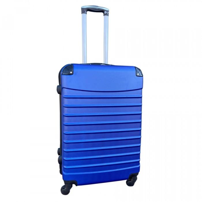 Travelerz kofferset 2 delige ABS groot - met cijferslot - 69 liter - roze - blauw