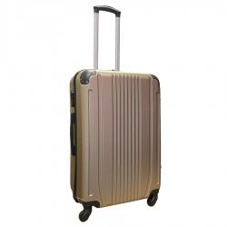 Travelerz reiskoffer met wielen 69 liter - lichtgewicht - cijferslot - champagne (168)