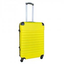 Travelerz reiskoffer met wielen 69 liter - lichtgewicht - cijferslot - geel