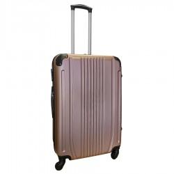 Travelerz reiskoffer met wielen 69 liter - lichtgewicht - cijferslot - rose goud (168)