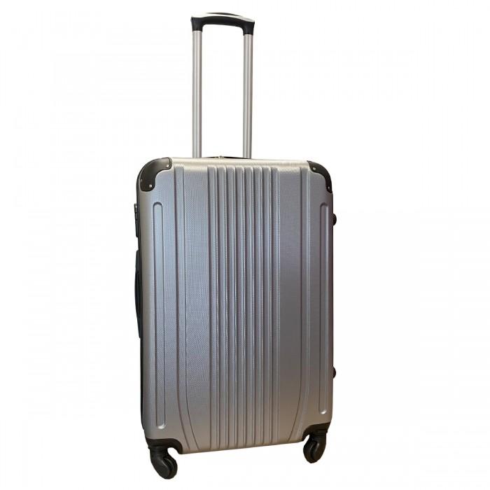 Travelerz reiskoffer met wielen 69 liter - lichtgewicht - cijferslot - zilver (168)
