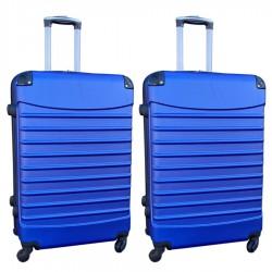 Travelerz kofferset 2 delige ABS groot - met cijferslot - 95 liter - blauw