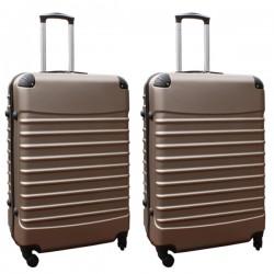 Travelerz kofferset 2 delige ABS groot - met cijferslot - 95 liter - champagne