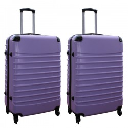 Travelerz kofferset 2 delige ABS groot - met cijferslot - 95 liter - lila