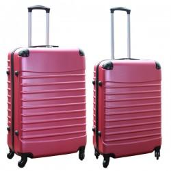 Travelerz kofferset 2 delige ABS groot - met cijferslot - reiskoffers 69 en 95 liter - roze