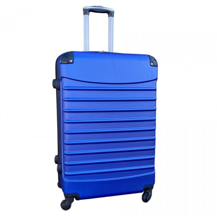 Travelerz kofferset 4 delig ABS - zwenkwielen - met cijferslot - blauw