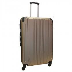 Travelerz reiskoffer met wielen 95 liter - lichtgewicht - cijferslot - champagne (168)