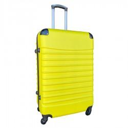Travelerz reiskoffer met wielen 95 liter - lichtgewicht - cijferslot - geel